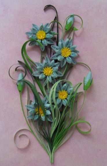 квиллинг картинки цветы: